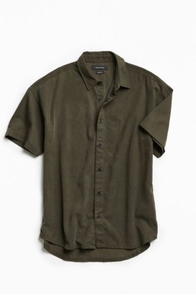 UO Tencel Short Sleeve Button-Down Shirt