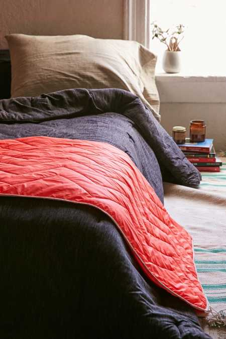 Nylon Quilted Throw Blanket