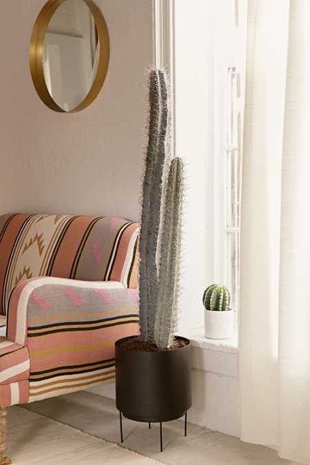 Large Faux Cactus Decor