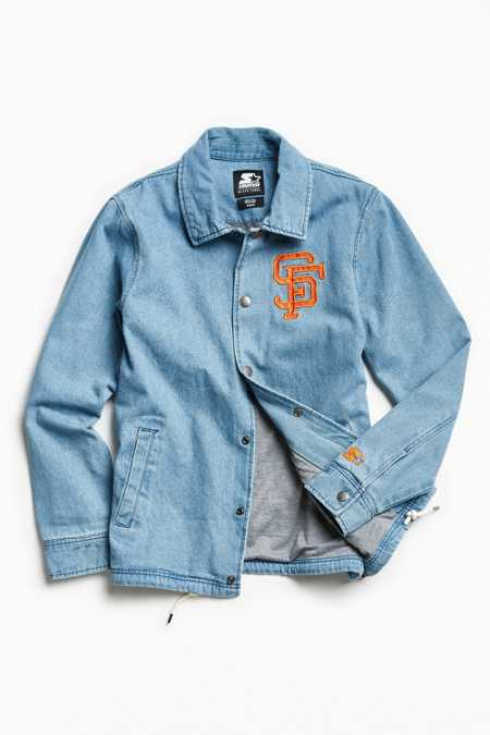 Starter X UO MLB San Francisco Denim Coach Jacket