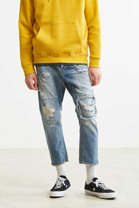 One Teaspoon Shredded Blue Tapered Jean