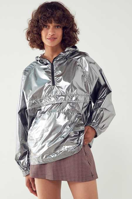 Silence + Noise Iridescent Packable Windbreaker Jacket