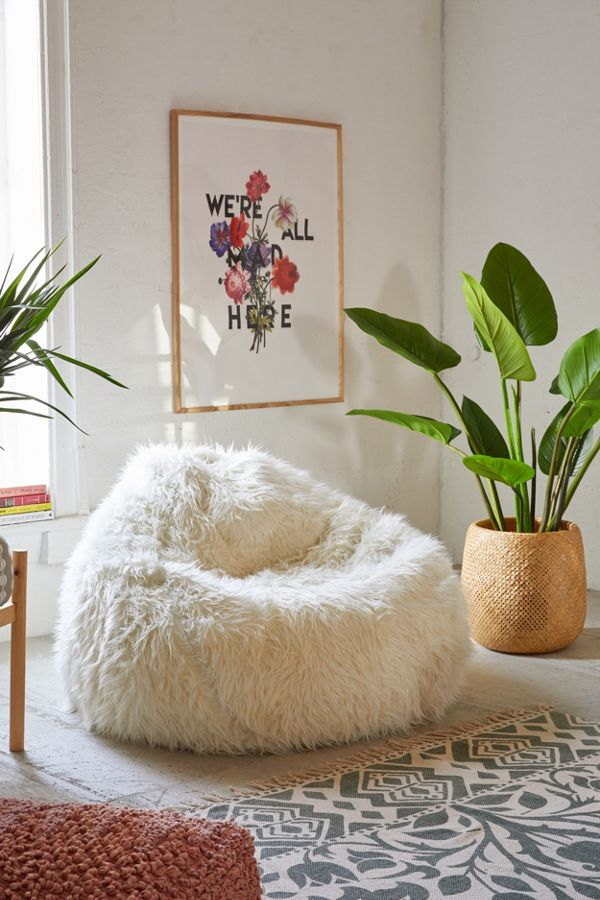 Slide View 1 Aspyn Faux Fur Shag Bean Bag Chair