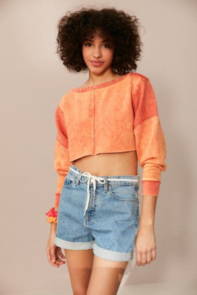 BDG Teen Spirit Cropped Long Sleeve Tee