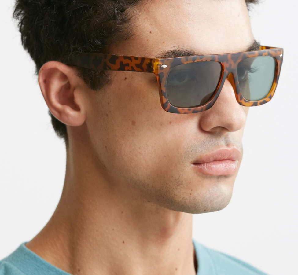 Slide View: 2: Flat Top Wide Sunglasses
