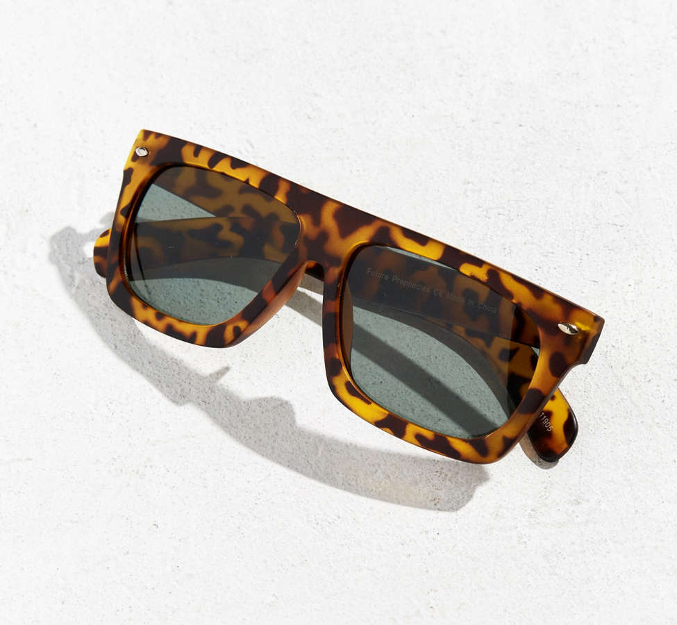Slide View: 5: Flat Top Wide Sunglasses