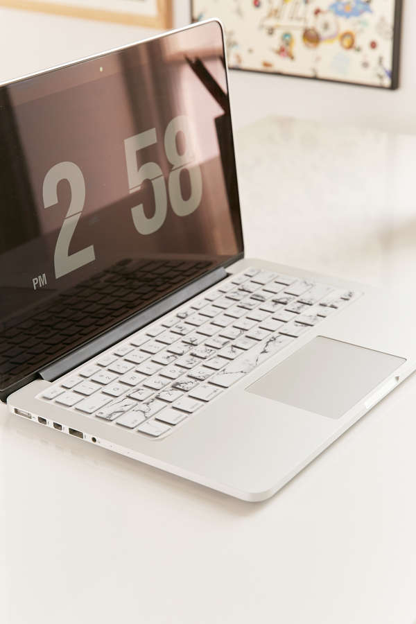 White Marble Keyboard Cover Urban Outfitters