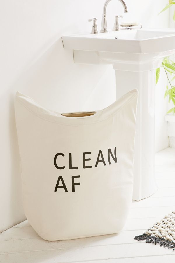 Clean Dirty Af Standing Laundry Bag Hamper Urban Outfitters