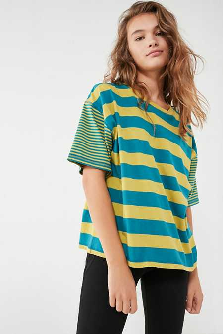 BDG Boston Oversized Striped Ringer Tee
