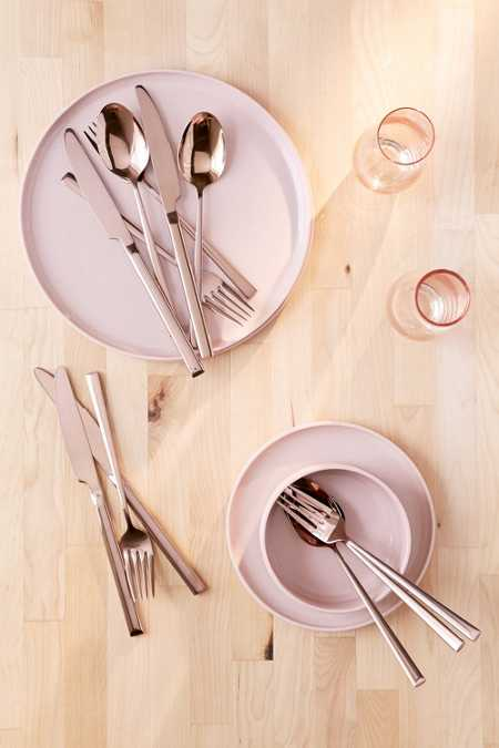 12-Piece Metallic Flatware Set