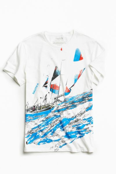 Nautica + UO Sailing Tee - White XL at Urban Outfitters