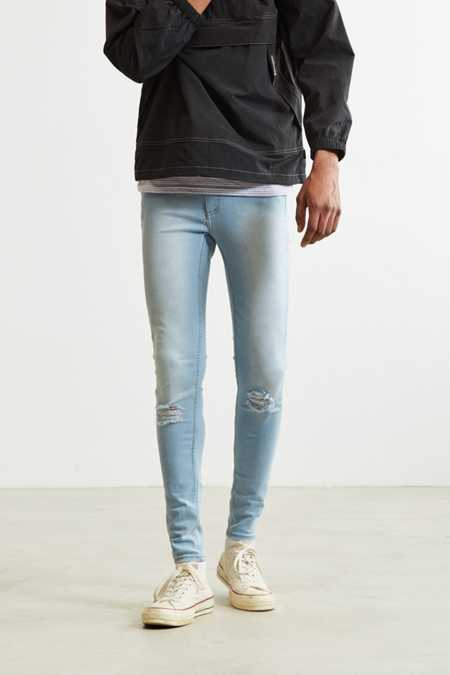 Cheap Monday Ripped Blue Super Skinny Jean