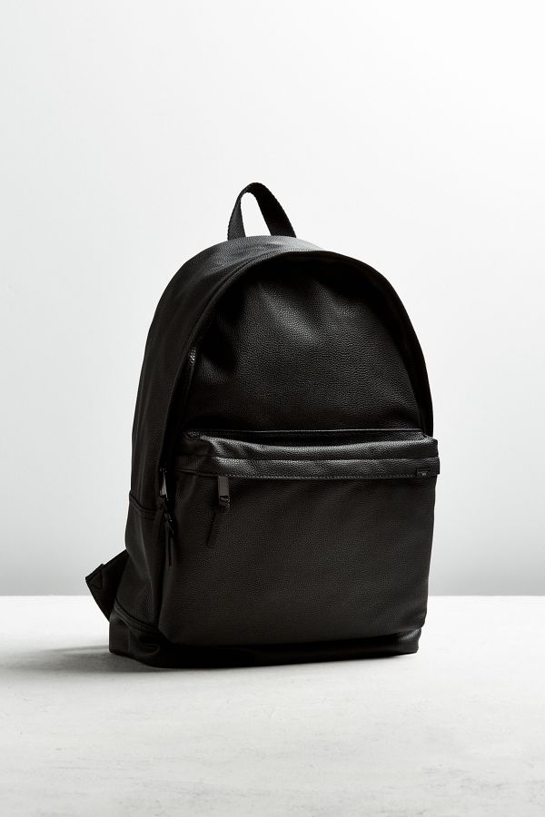 Uo Faux Leather Backpack Urban Outfitters