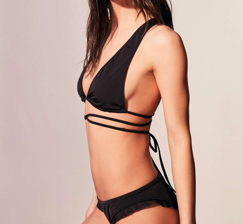 Slide View: 4: Out From Under Candice Lace-Up Bikini Top