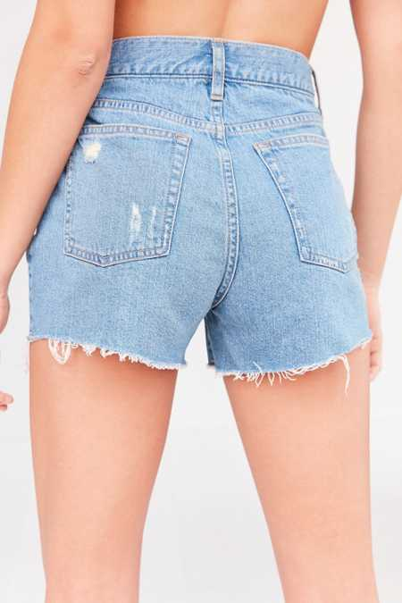 Slide View: 6: BDG Girlfriend High-Rise Distressed Denim Short