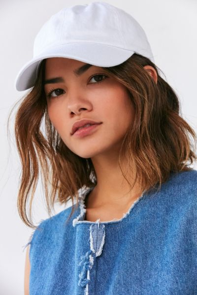 Color Wash Baseball Hat - White One Size at Urban Outfitters