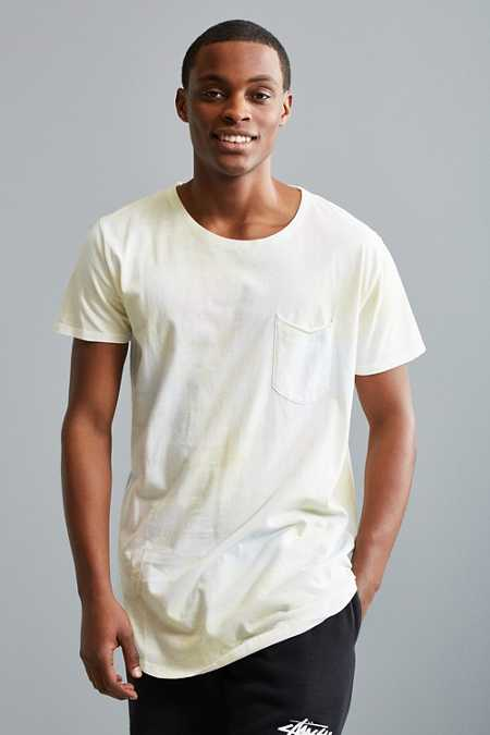 Cloud Wash Long Loose Scoopneck Tee