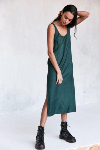 Cooperative Daphne Scoop-Back Midi Slip Dress