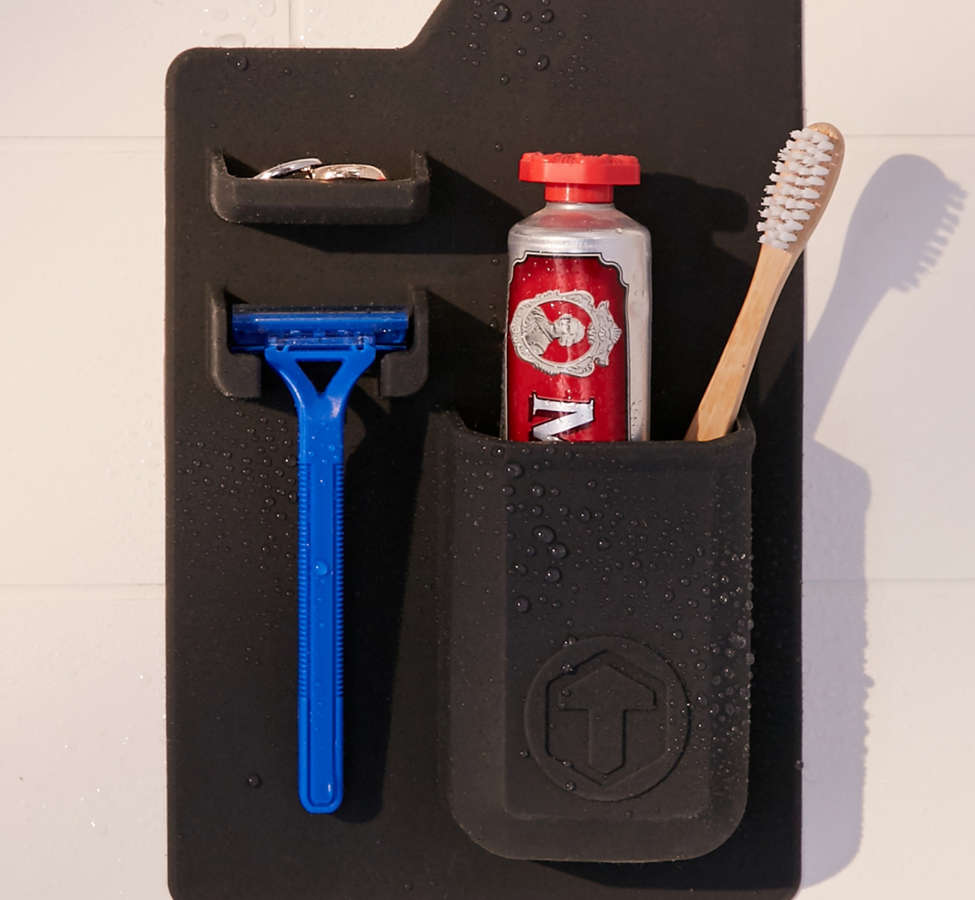 Slide View: 1: Tooletries Mighty Toothbrush + Razor Holder