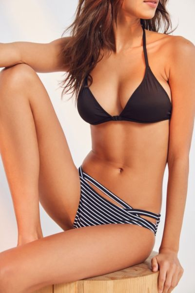 Out From Under Printed Cutout Hipster Bikini Bottom - Oyster S at Urban Outfitters