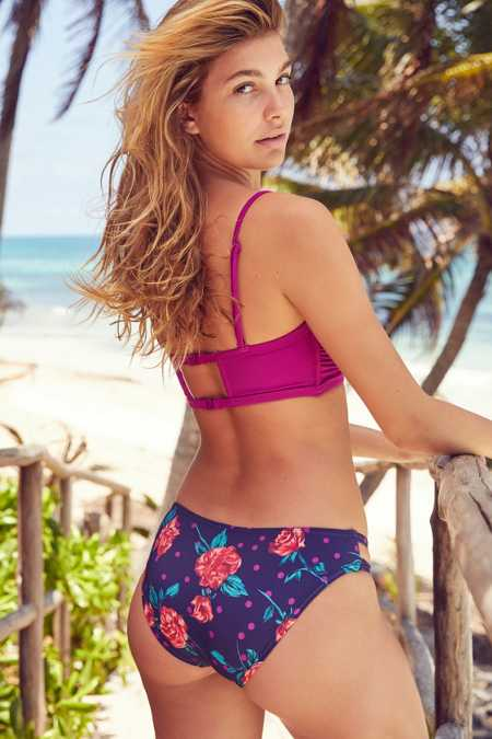 Out From Under Printed Cutout Bikini Bottom