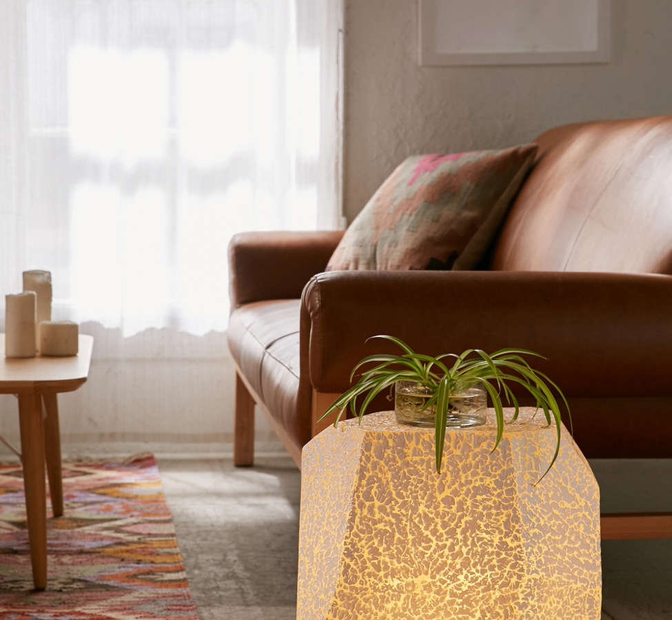 Slide View: 1: Illuminated Textured Stool