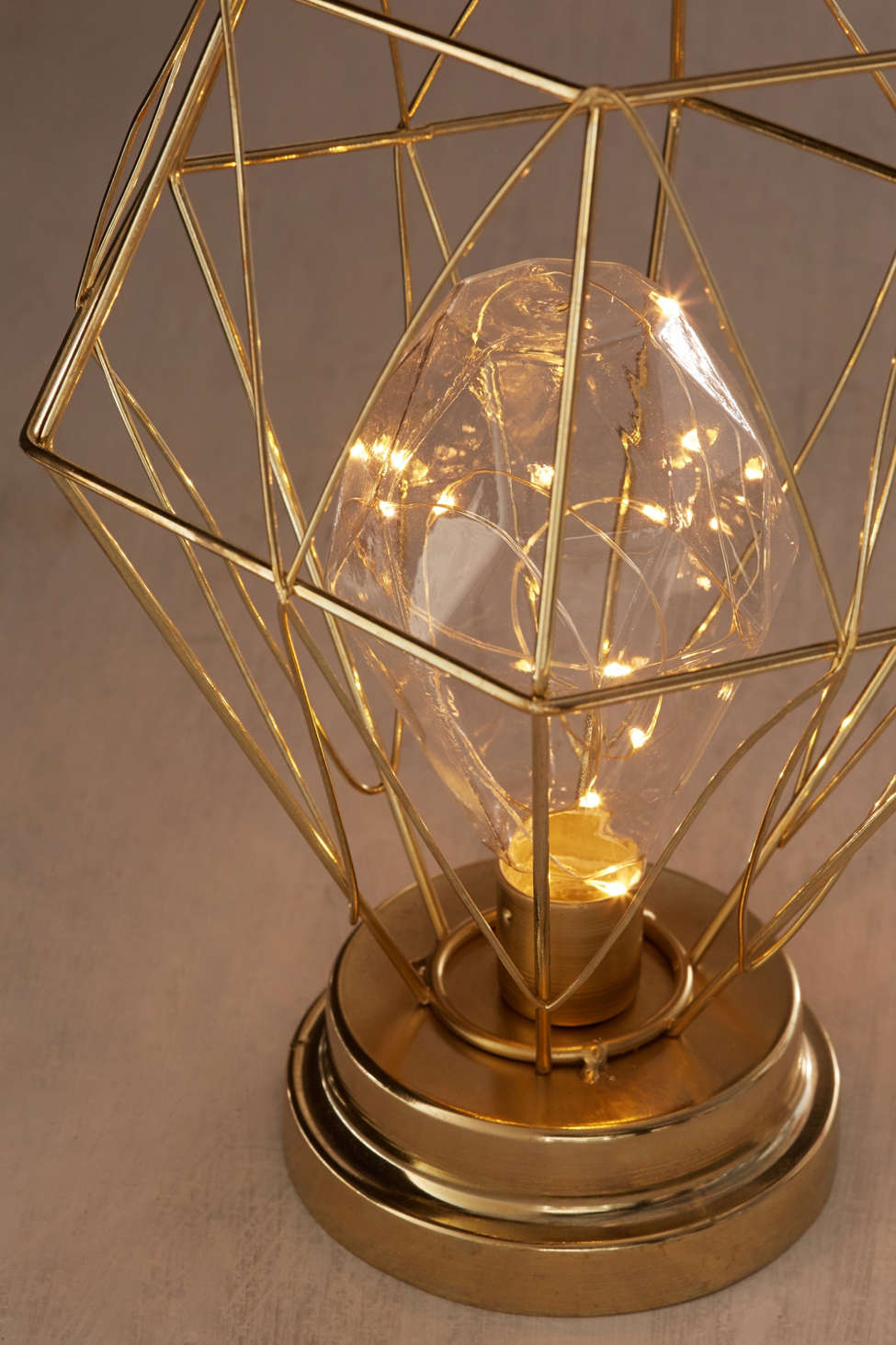 Serena Geo Caged Table Lamp Urban Outfitters