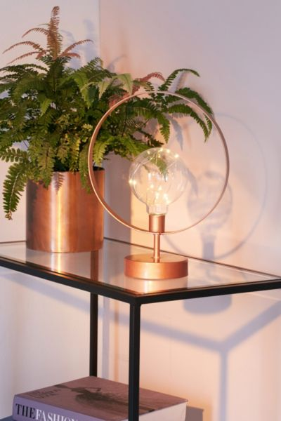 Blair Circle Table Lamp - Copper One Size at Urban Outfitters