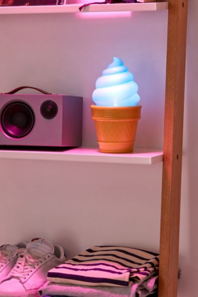 Ice Cream Table Lamp - Blue One Size at Urban Outfitters