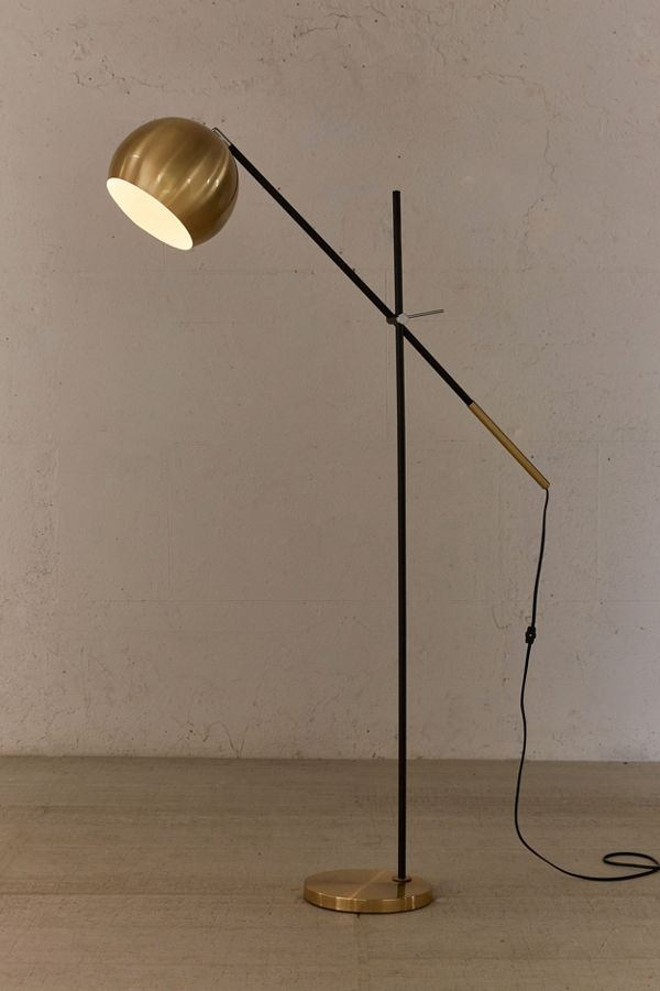 Culver brass floor lamp urban outfitters tap image to zoom aloadofball Images