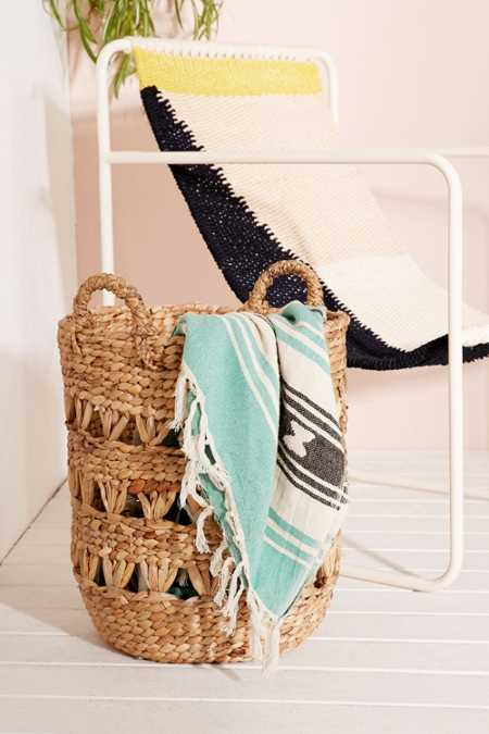 Lucy Woven Laundry Basket
