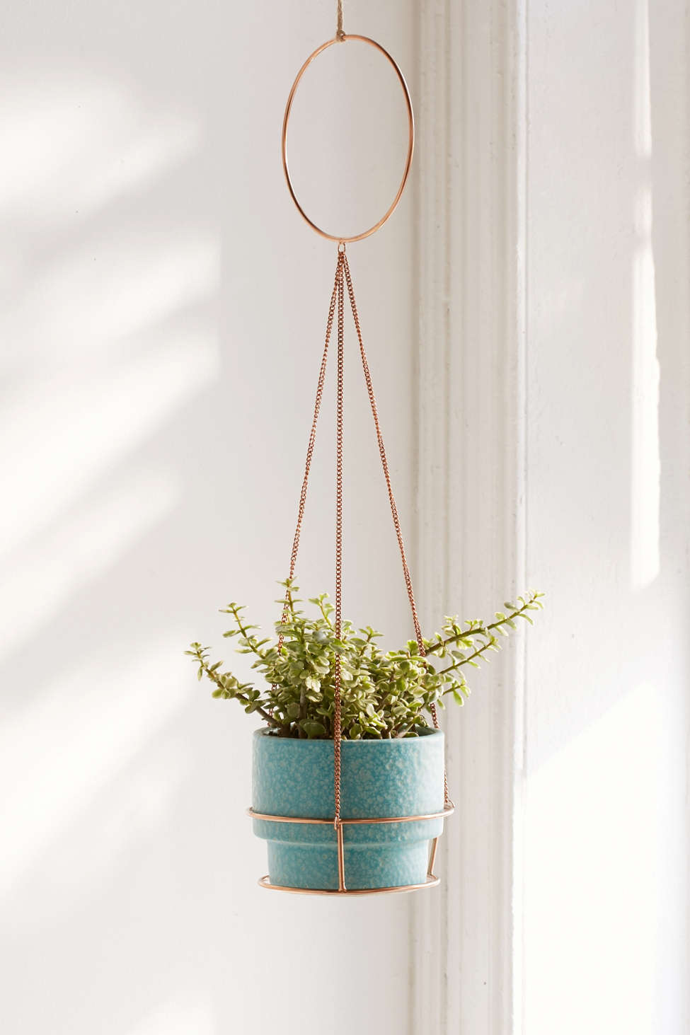 Slide View: 1: Metal Circle Hanging Planter
