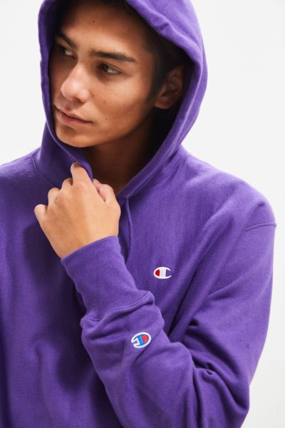 Champion Reverse Weave Hoodie Sweatshirt - Purple M at Urban Outfitters