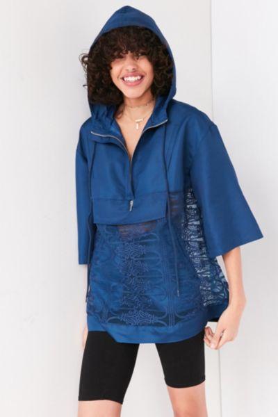 Kimchi Blue Mixed Lace Popover Windbreaker Jacket