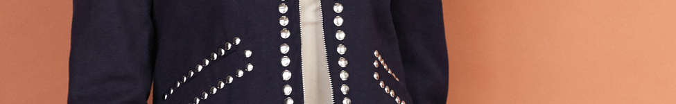 Thumbnail View 1: Ecote Studded Zip-Up Jacket