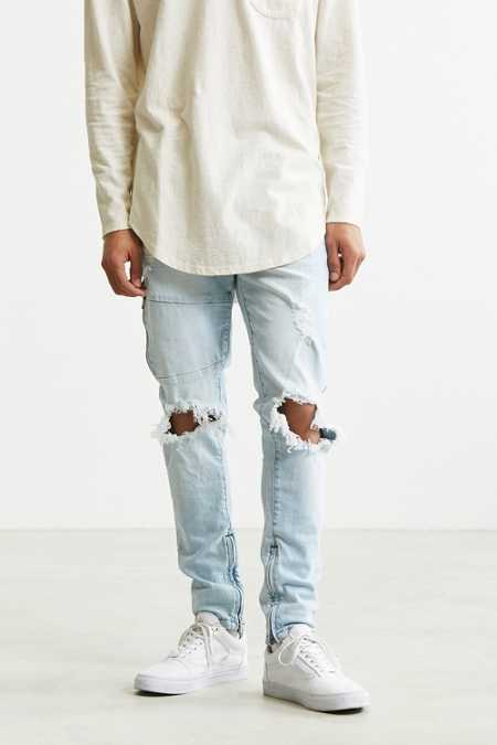 Sushi Radio Stonewash Destructed Moto Jean