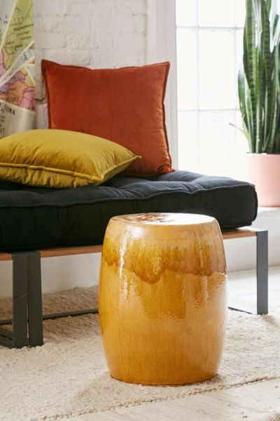 Ceramic Side Table - Brown One Size at Urban Outfitters