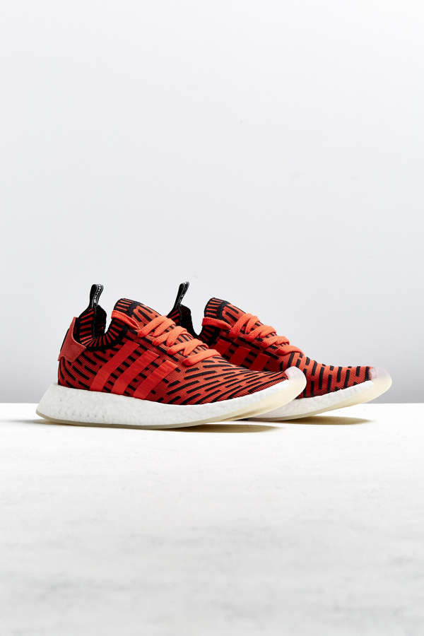 Adidas x Nmd R2 PK Primeknit Core Red/Black ON FEET Detailed