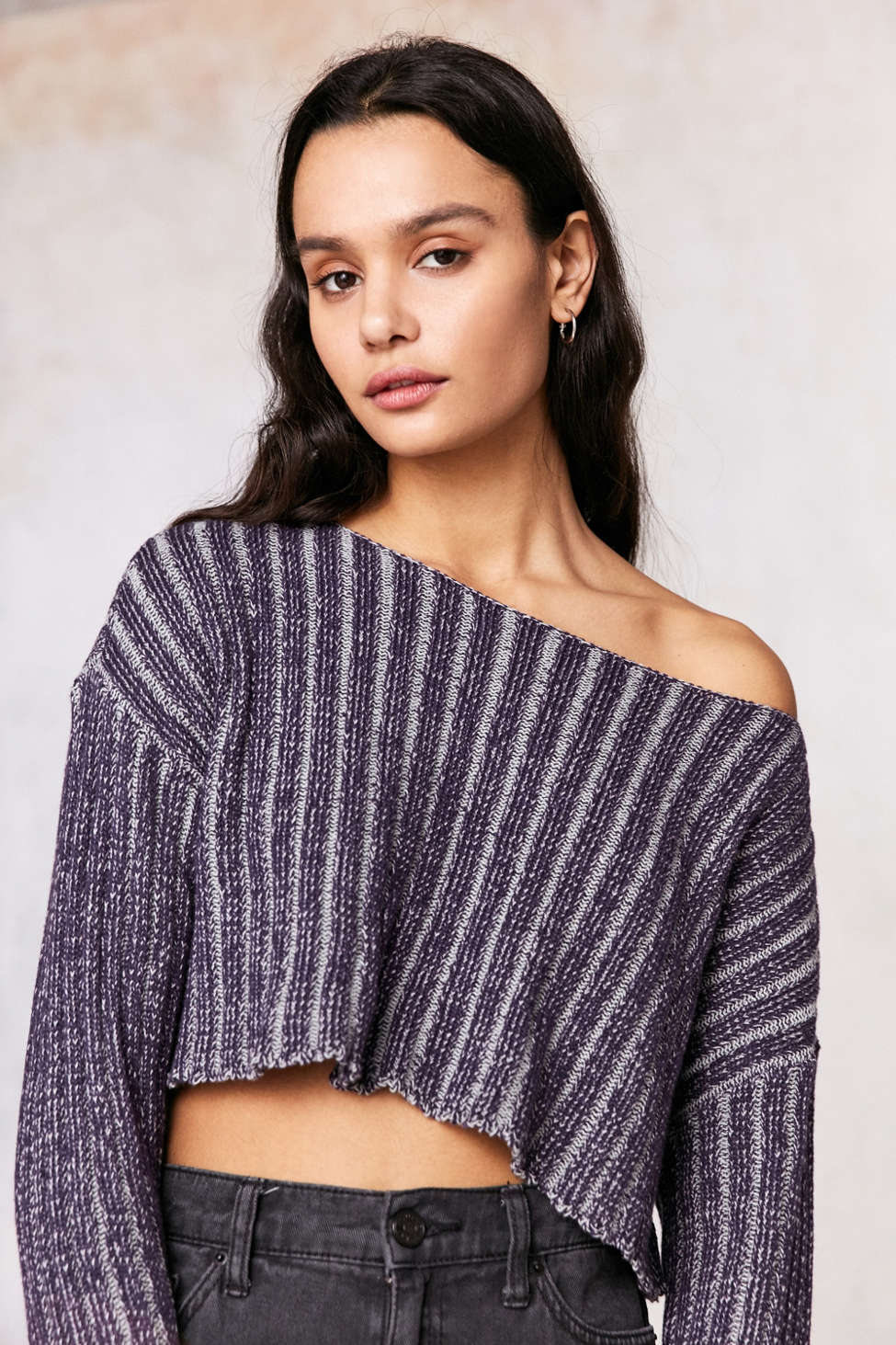 Silence Noise Kylie Ribbed Cropped Sweater Urban Outfitters Canada