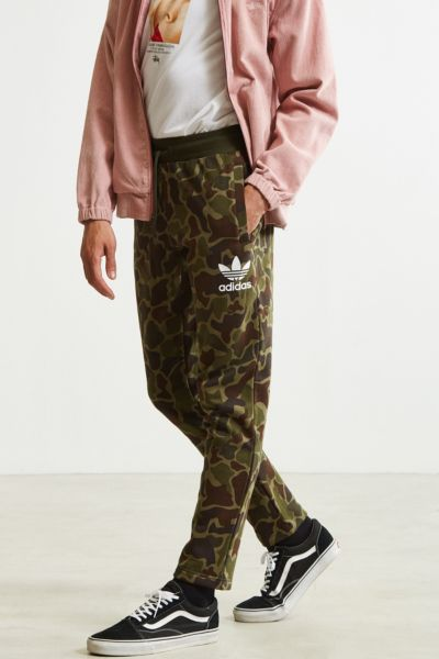 adidas Camo Sweatpant - Green Multi M at Urban Outfitters