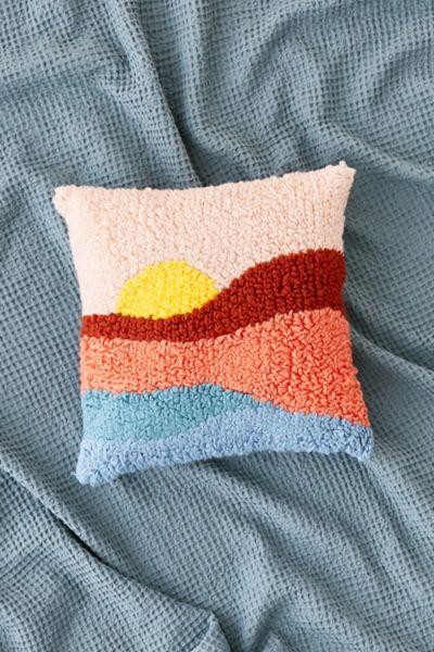 Sunset Shag Throw Pillow