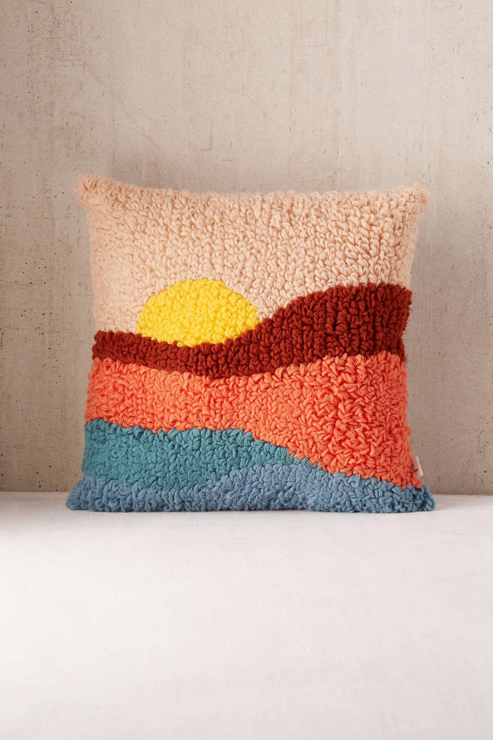 Slide View: 2: Sunset Shag Throw Pillow