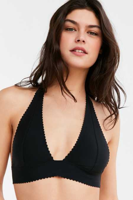 Out From Under Cecile Scallop Micro Halter Bra