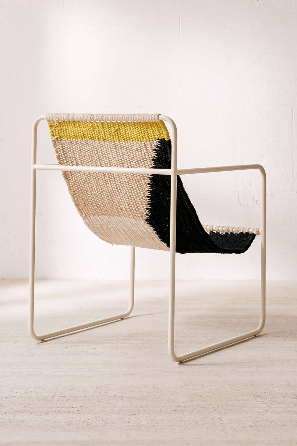 kimball colorblock macrame sling chair   urban outfitters