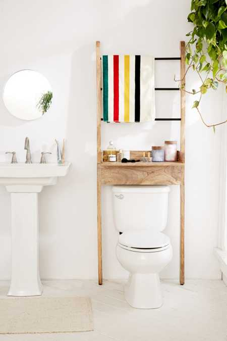 Bronte Bathroom Ladder Storage