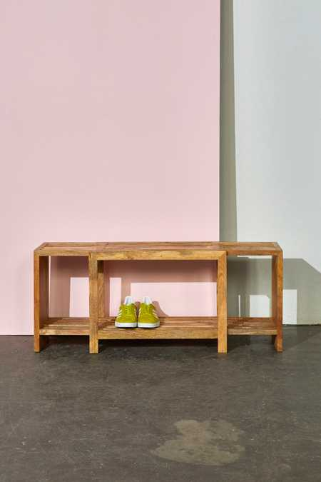 Damien Expandable Wooden Bench