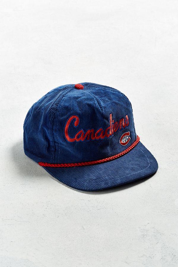 Vintage Montreal Canadiens Corduroy Snapback Hat  93c5ff537
