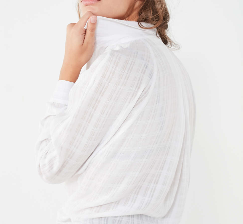 Slide View: 4: BDG Courtney Tie-Front Open Blouse