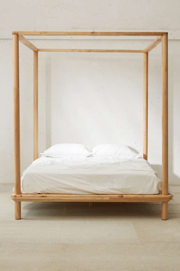 Slide View: 2: Eva Wooden Canopy Bed