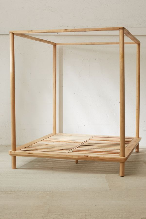 Slide View: 3: Eva Wooden Canopy Bed